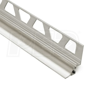 "Schluter DILEX-AHKA - Cove Shaped Profile - For 5/16"" Wall Tile - 8' 2-1/2"" Length - Brushed Nickel Anodized Aluminum"