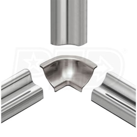 Schluter DILEX-HKU - 90 Degree Inside Corner - Brushed Stainless Steel