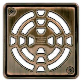 "Schluter KERDI-DRAIN - 4"" Square Shape - Grate Kit - Oil Rubbed Bronze Steel"