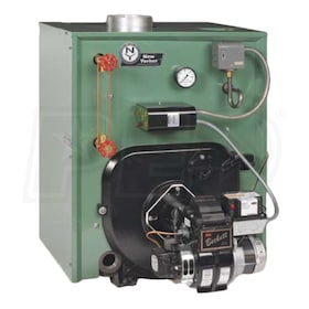 New Yorker CL4-175 - 112K BTU - 83.5% AFUE - Steam Oil Boiler - Chimney Vent - Includes Tankless Coil