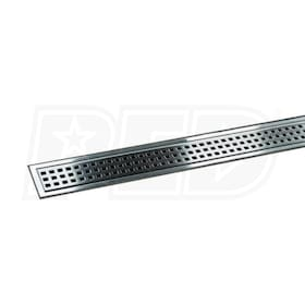 "Schluter KERDI-LINE - 64"" Length - Linear Drain Grate Assembly - 3/4"" Frame Height - Perforated Grate - Channel Body Sold Separately"