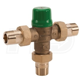 "Taco 5000 Series - Mixing Valve - Brass - 1"" Pex - Gauge - Point of Source"