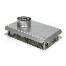"Triangle Tube 3"" - Sidewall Vent Termination Kit - Stainless Steel"
