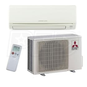 Mitsubishi M-Series - 9,000 BTU - Ductless Air Conditioning System - Wall Mounted - 23.2 SEER