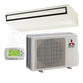 Mitsubishi - 24k BTU Cooling Only - P-Series Ceiling Suspended Air Conditioning System - 16.8 SEER