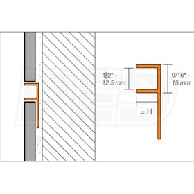 "Schluter DECO-SG - Decorative Profile - For 3/8"" Thick Tile - 8' 2-1/2"" Length - Satin Anodized Aluminum"