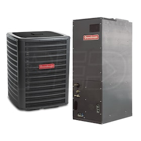 Goodman High Efficiency - 4 Ton Cooling - 46,000 BTU Heating - Heat Pump & Air Handler Package - 15.5 SEER - 9.2 HSPF - Multi-Position