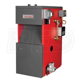 Crown Boiler BSI311 - 180K BTU - 77.5% Thermal Efficiency - Steam Gas Boiler - Chimney Vent