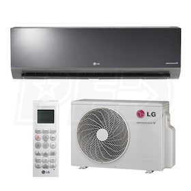 LG - 18k BTU Cooling + Heating - Art Cool Mirror Wall Mounted Air Conditioning System - 20.5 SEER