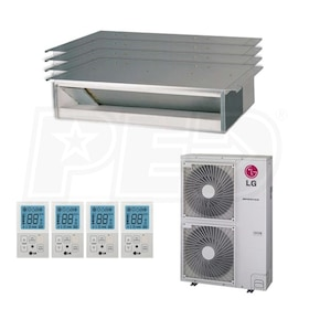 LG Concealed Duct 3-Zone System - 54,000 BTU Outdoor - 18k + 18k + 18k Indoor - 15.8 SEER