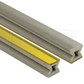 "Schluter DILEX-EZ-9 - 9/32"" Face Width - Decorative Joint Profile - 8' 2-1/2"" Length - 11/32"" Height - Grey w/ Brass Inlay"