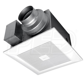 "Panasonic WhisperGreen Select - 110CFM - Bathroom Exhaust Fan - Ceiling Mount - 4"" or 6"" Duct"