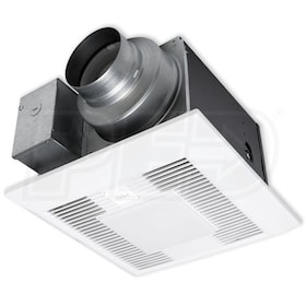 "Panasonic WhisperGreen Select - 110 CFM - Bathroom Exhaust Fan - Ceiling Mount - 4"" or 6"" Duct - With Light - Speed Control"