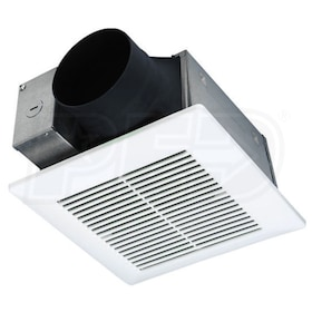 "Panasonic EcoVent - 70CFM - Bathroom Exhaust Fan Motor and Grill - 4"" Duct"