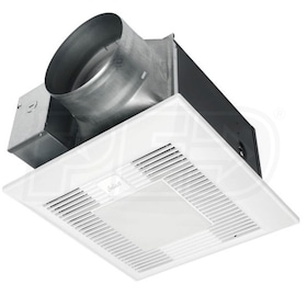 "Panasonic WhisperLite - 150 CFM - Bathroom Exhaust Fan - Ceiling Mount - 6"" Duct - With Light - Speed Control"