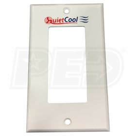 QuietCool Wall Plate, 1-Gang, Decora, White (Quiet Cool Logo)