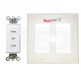 QuietCool Two Speed Control Switch with 2-Gang Wall Plate