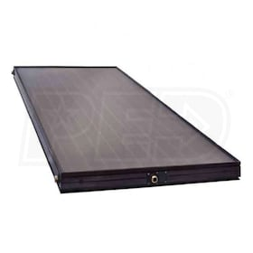 Caleffi NAS104 Series Flat Plate Solar Collector, 4' W x 10' H, four outlets