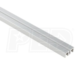 "Schluter SHOWERPROFILE-WS - Aluminum Support Profile - Flat Shape - 55"" Length - Satin Anodized Aluminum"