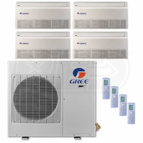 Gree Universal Mounted 4-Zone System - 30,000 BTU Outdoor - 9k + 9k + 9k + 9k Indoor - 21.0 SEER