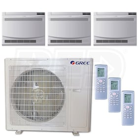 Gree Floor Standing 3-Zone System - 36,000 BTU Outdoor - 12k + 12k + 18k Indoor - 21.0 SEER