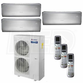 Gree CROWN Wall Mounted 3-Zone System - 56,000 BTU Outdoor - 9k + 18k + 18k Indoor - 16.0 SEER