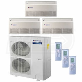 Gree Floor Standing 3-Zone System - 48,000 BTU Outdoor - 24k + 24k + 24k Indoor - 16.0 SEER