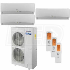 Gree TERRA Wall Mounted 3-Zone System - 56,000 BTU Outdoor - 18k + 18k + 24k Indoor - 16.0 SEER