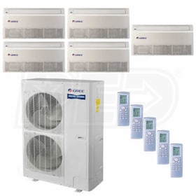 Gree Universal Mounted 5-Zone System - 56,000 BTU Outdoor - 12k + 12k + 12k + 12k + 18k Indoor - 16.0 SEER