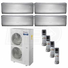 Gree CROWN Wall Mounted 4-Zone System - 56,000 BTU Outdoor - 9k + 12k + 12k + 12k Indoor - 16.0 SEER