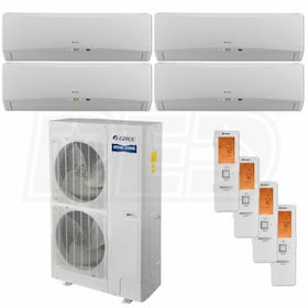 Gree TERRA Wall Mounted 4-Zone System - 48,000 BTU Outdoor - 9k + 18k + 18k + 18k Indoor - 16.0 SEER