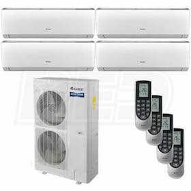 Gree VIREO Wall Mounted 4-Zone System - 56,000 BTU Outdoor - 12k + 12k + 12k + 12k Indoor - 16.0 SEER