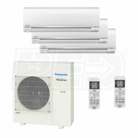Panasonic Wall Mounted 3-Zone System - 36,000 BTU Outdoor - 9k + 9k + 12k Indoor - 18.5 SEER
