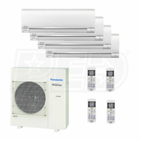 Panasonic Wall Mounted 4-Zone System - 24,000 BTU Outdoor - 7k + 7k + 9k + 12k Indoor - 22.0 SEER
