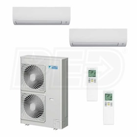 Daikin MXS Wall Mounted 2-Zone System - 48,000 BTU Outdoor - 12k + 18k Indoor - 18.9 SEER