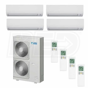 Daikin MXS Wall Mounted 4-Zone System - 48,000 BTU Outdoor - 9k + 9k + 9k + 24k Indoor - 17.7 SEER