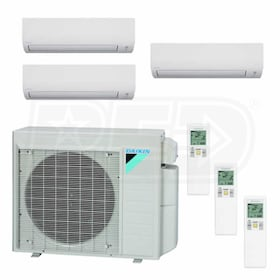 Daikin MXS Wall Mounted 3-Zone System - 24,000 BTU Outdoor - 9k + 9k + 18k Indoor - 17.9 SEER