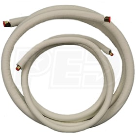 "JMF - 1/4"" x 3/8"" Mini Split Line Set - 1/2"" EZ Pull Insulation - 50' Length - Factory Flared"