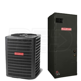 Goodman - 5.0 Ton Cooling - Air Conditioner + Air Handler Kit - 16.0 SEER