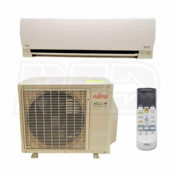 Wall Mounted Heating And Cooling Units : Fujitsu rl k btu cooling heating v wall